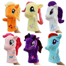 $enCountryForm.capitalKeyWord Australia - 6 Colors Cute Pony Hand Puppet Baby Kids Ponies Plush Hand Game Playing Toys stuffed animals Cartoon Novelty pony Items kids toys
