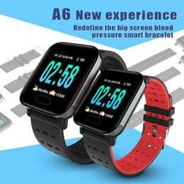Orange Heart Boxes Australia - A6 Fitness Tracker Wristband Smart Watch Colorful Touch Screen with Heart Rate Smart Watch for Android IOS Cellphones ID115 B57 with Box