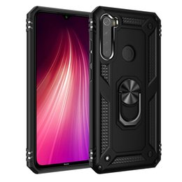 armor xiaomi redmi note case UK - For Xiaomi Redmi Note 8 Armor Shockproof TPU + PC Protective Case with 360 Degree Rotation Holder