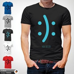 $enCountryForm.capitalKeyWord NZ - You Decide Smile Emoji Happy Tumblr T Shirt Men Unisex T-Shirt Tee Black !Funny free shipping Unisex Casual top