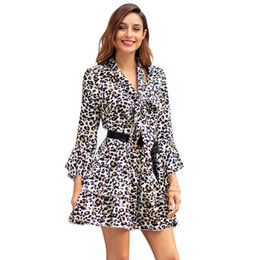 Cross-border women s 2019 spring and summer new long-sleeved lapel Slim dress  Amazon wish explosion models a generation wholesale 2c177f0e9ad1