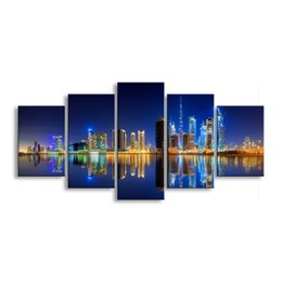 $enCountryForm.capitalKeyWord Australia - 5 pieces high-definition print the view of the city canvas painting poster and wall art living room picture CZFJ5-001