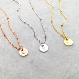 $enCountryForm.capitalKeyWord Australia - Coins Necklace Handmade Custom Rose Gold Choker 7mm Personalized Letters Pendant Collier Femme Kolye Collares Jewelry Riverdale Y19061703