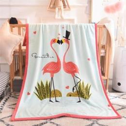 Outlet Bedding Australia - Unicorn Blanket Bedding Outlet Cartoon bear Velvet Plush Throw Blanket winter carpet Kids Sherpa Blanket for Couch Home Textil GGA1477