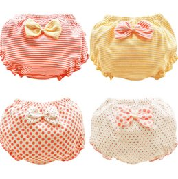 Elastic top pants online shopping - 0 T Baby shorts summer bow knot cotton dot underpants kids girl thin pp pants for children gifts top quality