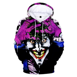 tracksuit 3d mens Australia - Suicide Squad Joker 3D Printed Oversized Mens Hoodies and Sweatshirts Sudadera Hombre Casual Brand Tracksuits Cool Funny Hoody