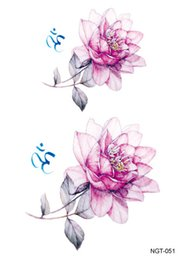 Fake eyes stickers online shopping - 50pcs Flower Temporary Tattoo Sticker Waterproof Fashion Women Face Fake Body Art Children Adult Hand Tattoos x15cm