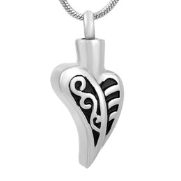 $enCountryForm.capitalKeyWord UK - Stainless Steel Natural Leaf Necklace Commemorative for Ashes Urn Bracket Souvenir Black Plated Pendant with Chain Jewelry IJD9750