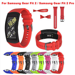 Wholesale Smart Watches Australia - For Samsung Gear Fit2 Pro   fit 2 Replacement Smart Watch Band Soft Silicone Adjustable Watch Band Bracelet Wrist Strap fit 2 pro
