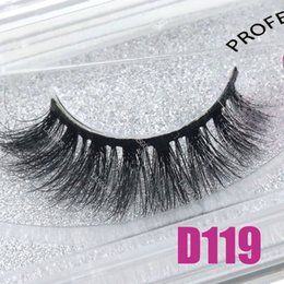shortest false eyelashes 2019 - LASGOOS 1 Pair Boxed 100% Mink 3D Fluffy Thin Fake Lashes Eye Downy Soft Short 13mm False Eyelashes D119 cheap shortest