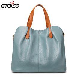 $enCountryForm.capitalKeyWord NZ - Genuine Leather Women Handbag High Quality Fashion Ladies Shoulder Bag Solid Color Top-handle Bag Y19051502