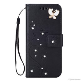 China Shinning butterfly phone case 2 In 1 Little Bird Wallet Case PU Leather Phone Shell With Stand Strap Card Slot Pocket For iphone 6 7 8 9 x supplier bird iphone suppliers