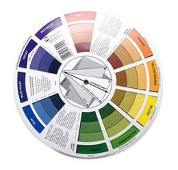 Wholesale New Health Professional 12 Color Paper Card Three-tier Design color Mixing Wheel Guidance Round central Circle Rotates Tattoo Nail Pigment