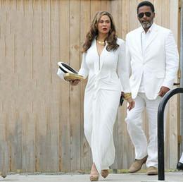 $enCountryForm.capitalKeyWord Australia - Summer White Linen Plus Size Mens Suits Groom Tuxedo Men Suits for Wedding Man Blazer Costume Homme Prom Party Terno Masculino