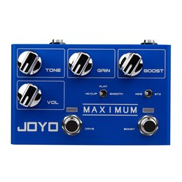 Overdrive Pedal Effect Australia - JOYO R-05 MAXIMUM Guitar Effects Pedal Dual Channel Overdrive Sound High Ultra Long Sustained Electric Guitar Monoblock Effect
