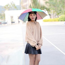 Wholesale NEW Head hat umbrella cm tea large trade umbrella advertising umbrella stand sun hat DHL Free Z047