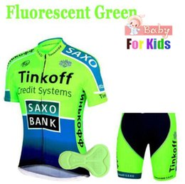 Wholesale 2019 Breathable Quick Dry Kids Cycling Jersey Set Shorts Fluorescent Pink Children Bike Clothing Boys Girls Summer Bicycle Wear