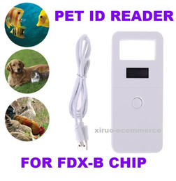 Wholesale save animals for sale – custom FDX B Animal pet id reader chip transponder USB RFID handheld microchip scanner records save for dog cats horse