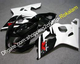 $enCountryForm.capitalKeyWord Australia - Cowlings For Suzuki GSX-R 600 750 2004 2005 Parts GSXR600 GSXR750 White Black ABS Plastic Motorcycle Fairings K4 04 05 (Injection molding)