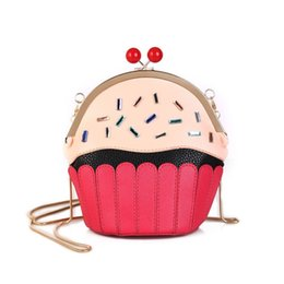 $enCountryForm.capitalKeyWord NZ - 2019 Fashion Fashion Lovely Women's Funny Satchel Bag New Chains Phone Purse Cartoon Cake Shaped Casual Cross Body Messenger Bag Hot Sale