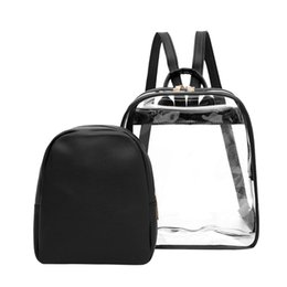 $enCountryForm.capitalKeyWord UK - Aelicy Multi-use Women Clear Plastic See Through Security Transparent Backpack Handbags Waterproof Travel Make Up Backpacks 118A
