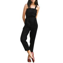 $enCountryForm.capitalKeyWord NZ - Fashion Summer Women Strap Sleeveless Backless Jumpsuit Long Wide Leg Trouser Rompers tracksuits Body Overalls for women Catsuit