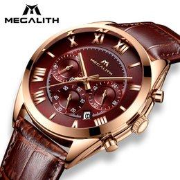 $enCountryForm.capitalKeyWord Australia - Megalith Fashion Leather Watch For Men Sport Quartz Clock Waterproof Date Mens Watches Top Brand Luxury Watch Relogio Masculino MX190724