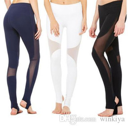 $enCountryForm.capitalKeyWord Australia - Women Yoga Pants Sexy Womens Leggings Gothic Insert Mesh Design Trousers Pants Big Size Black Capris Sportswear New Fitness Leggings