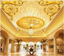 Royal Paintings Australia - Papel de parede Custom 3D photo silk mural wallpaper European aristocratic royal hotel lobby ceiling zenith mural decorative painting