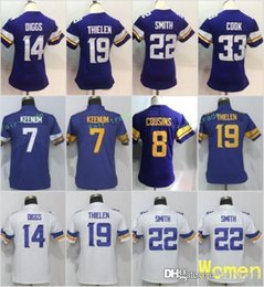43a53a7bb Discount viking jerseys - Women Minnesota Jerseys 19 Adam Thielen Vikings  14 Stefon Diggs 33 Dalvin