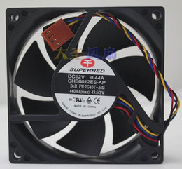 Intel Cpu Fans Australia - Wholesale: 8020 CHB8012ES-AP 12V 0.44A 8CM four-wire temperature-controlled PWM chassis CPU fan
