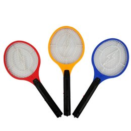 Wholesale Batteries Operated Mosquito Swatter Colors Insect Hand Racket Killer Home Garden Pest Bug Zapper Swatter Killer Pieces ePacket