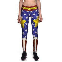 $enCountryForm.capitalKeyWord Australia - 0080 Plus Size High Waist Silm Fitness Women Leggings Elastic Pants Trousers Sexy Girl Old Glory The Avengers Wonder Prints
