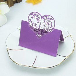 $enCountryForm.capitalKeyWord UK - 50pcs Hollow Out Elegant Table Name Place Seat Paper Wedding Invitation Card For Party Table Decoration Wedding Decoration 6ZZ16