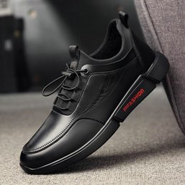 Discount business casual work shoes men - 2019 Autumn New Men Leather Casual Shoes Men loafer driving Shoes Work Business Casual Sneakers Male Flats LM-43