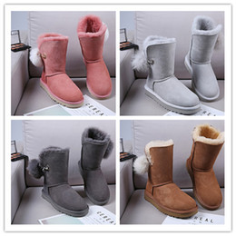 72f94bd42d4 Hot Sale New Women s Australia Classic tall Boots Women girl boots Boot  Snow Winter boots fuchsia black blue red leather shoes 24
