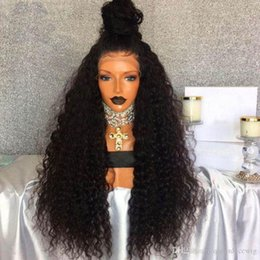 KinKy straight blonde online shopping - afro kinky straight synthetic front lace wig free part black brown blonde heat resistant fiber for woman