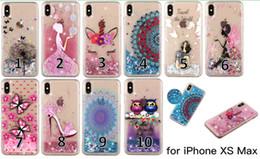 Colorido pintado macio tpu glitter líquido quicksand phone case para iphone x xr xs max 6 7 8 plus e samsung galaxy s10 s9 s8 mais s7 s6 edge venda por atacado