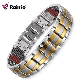 titanium bracelets Australia - RainSo Male Bracelet 2019 Popular Fashion Dropshipping Bracelets & Bangles Charm Germanium Magnetic H Power Titanium Bracelet