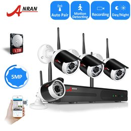 hard wifi disk 2019 - ANRAN 4CH H.265 WIFI NVR 5.0 MP IP Security Camera System 1944P Outdoor Waterproof 36 IR Wireless CCTV System With Hard