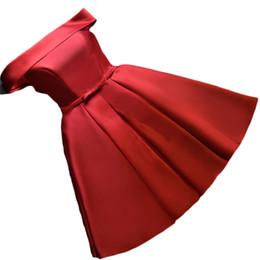 $enCountryForm.capitalKeyWord UK - wholesale Simple Short Bridesmaid Dresses Red A-line Dinner Party Formal Dress Women Wedding Party