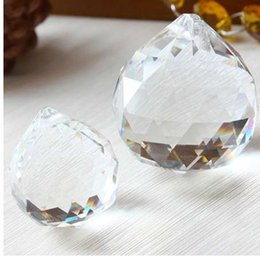 prism glasses Australia - 1Pcs lot 50mm Ball Prism Chandelier Crystal Faceted Glass Crystal