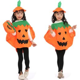 pumpkin costume 3t Canada - halloween costumes kids Halloween Pumpkin Costume Sets+Pumpkin bag 3pcs set for kids & adult halloween party Cosplay Clothing SS370