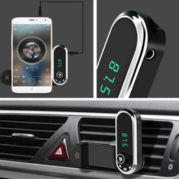 Iphone Stereo Player Australia - Car bluetooth hands-free FM Transmitter mp3 player mounted on the mobile phone for Car Phone iPhone Charging Support TF card FM Transmitter
