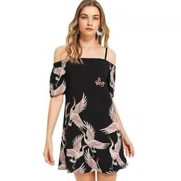 $enCountryForm.capitalKeyWord UK - Ladies Dress New Crane Crane Bandwidth Loose Shoulder Dress
