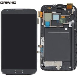 $enCountryForm.capitalKeyWord Australia - ORIWHIZ 100%Genuine Samsung Galaxy Note 2 N7100 Black LCD Screen Touch Digitizer Frame with Free Repairing Tools
