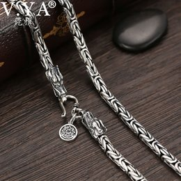 $enCountryForm.capitalKeyWord Australia - V.ya S925 Men's Chains 925 Sterling Silver Necklace Men Dragon Clasp Heavy Thick Chain Necklace Handmade Thai Silver Jewelry J190526