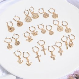 Gold earrinGs for cartilaGe online shopping - Artilady Tiny Hoop Earrings for Women Gold Cartilage Hoop Earrings jewelry Endless Heart Shell gift Drop shipping