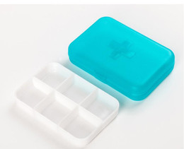 Medical Plastics Australia - Pill cases 6 Cells Mini Pill Storage Box Plastic Cases for Medicine Jewelry Organizers Medication pill box