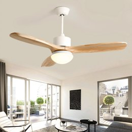 $enCountryForm.capitalKeyWord Australia - Nordic Loft Led Ceiling Fan Light Fashion Double Color Change Living Room Restaurant Cafe Wooden Fan Lamp With Remote Control